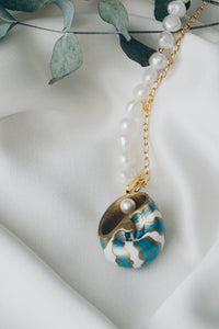 Medusa sea snail shell necklace
