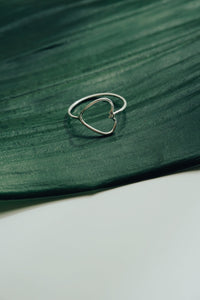 Minimalist Heart ring
