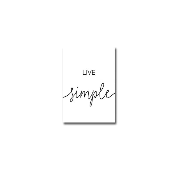 Dream Big, Live Simple, canvas