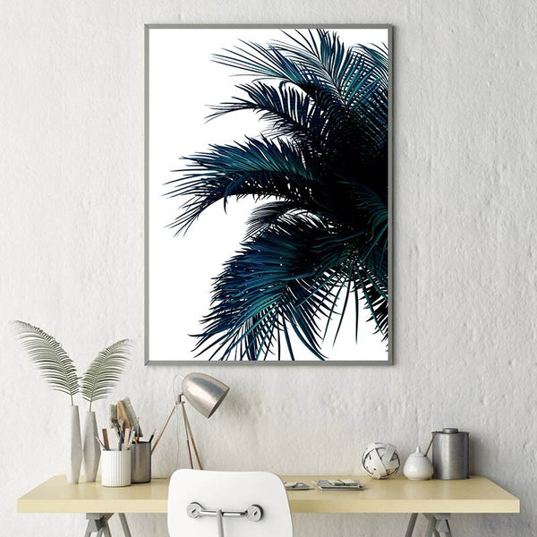 Blue Banana Palm, canvas