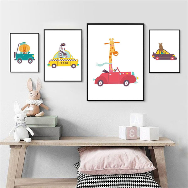 Animal Cars, canvas