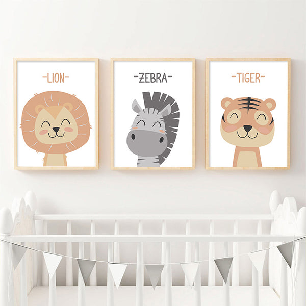 Zoo babies, canvas
