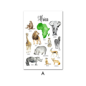Animal world, canvas