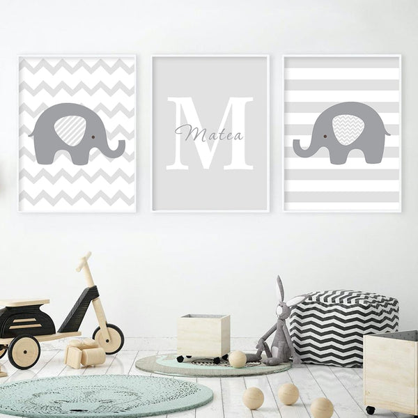 Personalized Baby's Name, canvas