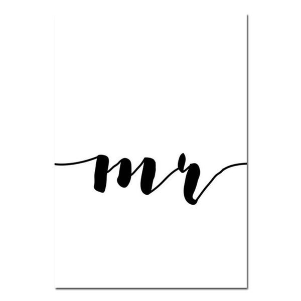 Mrs & Mr, canvas