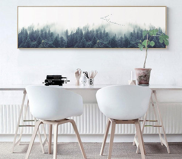 Panoramic Nordic Forest, canvas