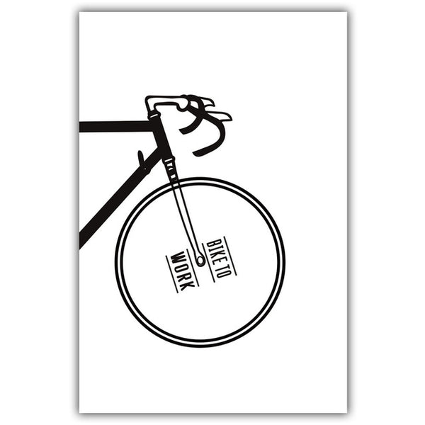 Bicycle 2 parts, canvas