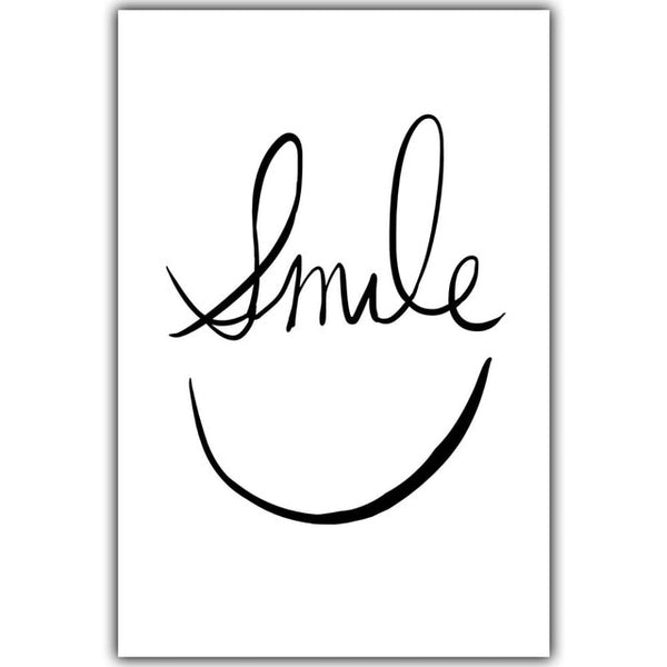 Black&White Smile, canvas
