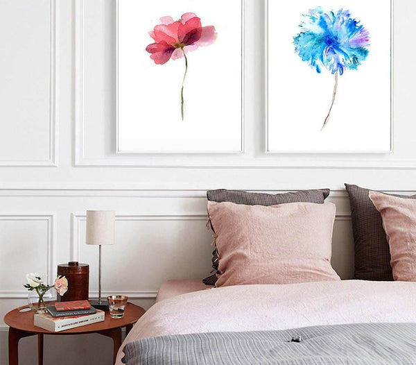 Colour flowers, canvas