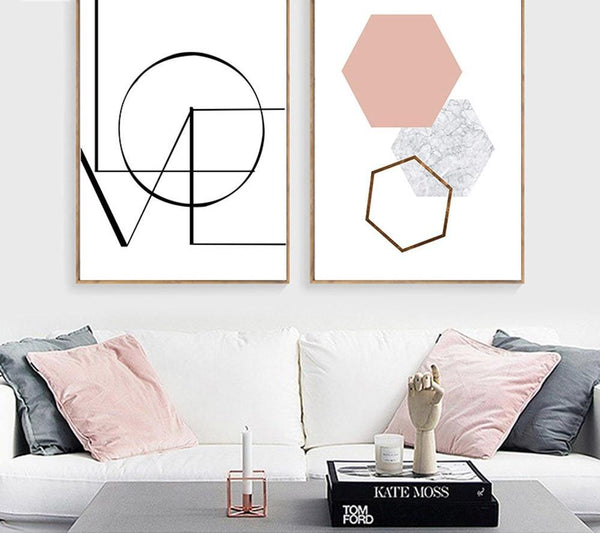 LOVE Hexagon, canvas