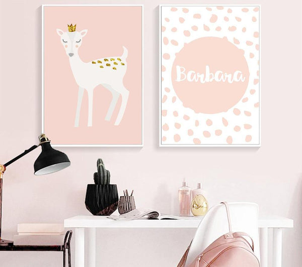 Baby Girl Nursery, canvas