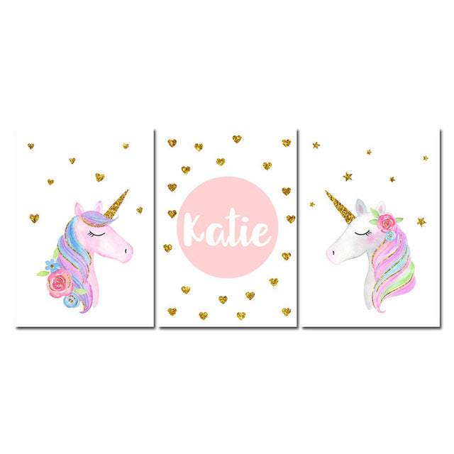 Custom Unicorn, canvas