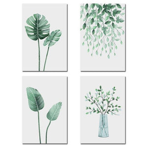 Watercolour delicate plants, canvas