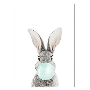 Bubble bunny, canvas