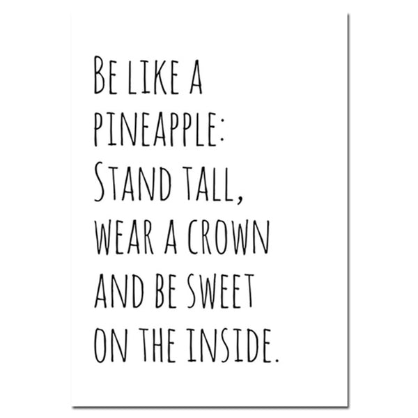 Motivational Pineapple, canvas