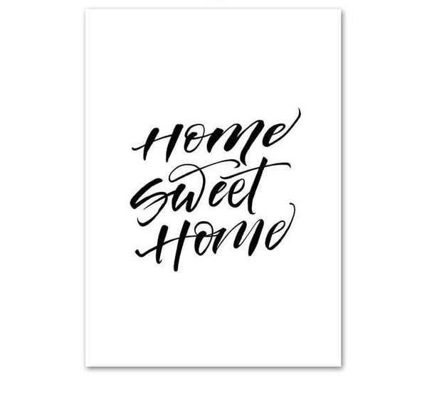Home Sweet Home, canvas