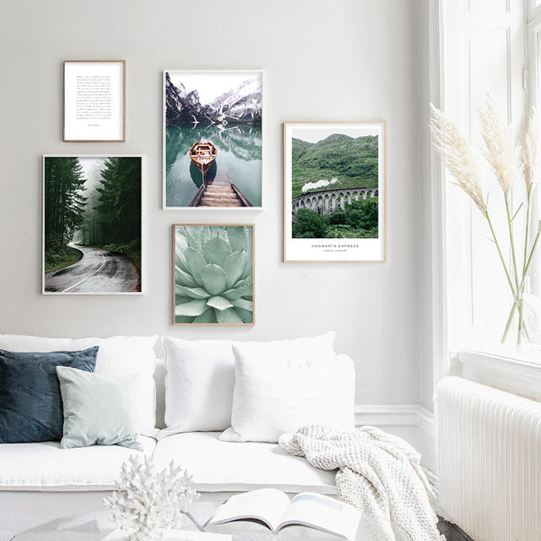 Scandinavian Scenes, canvas