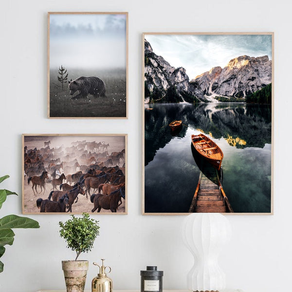 Scandinavian landscapes, canvas