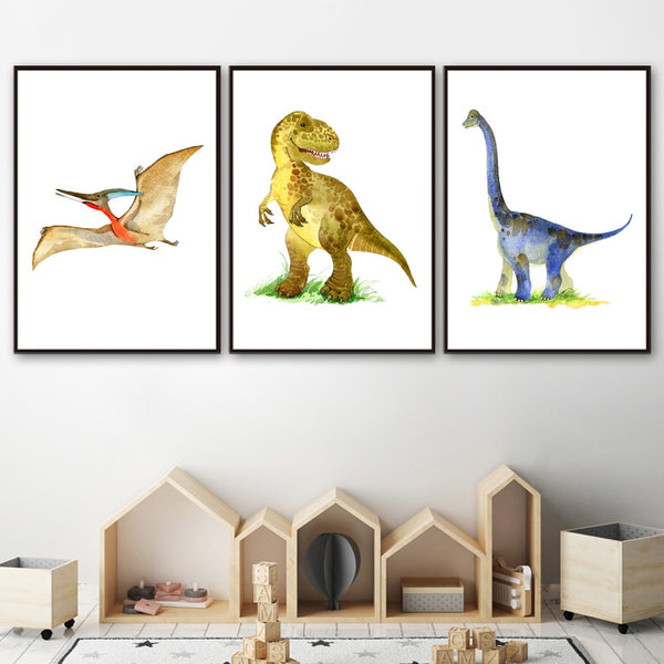 Dinosaurs, canvas