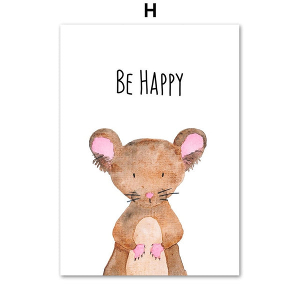 Be Happy Animals, canvas