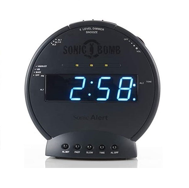 Sonic Bomb Extra Loud Alarm Clock with Bed Shaker Heavy Sleepers