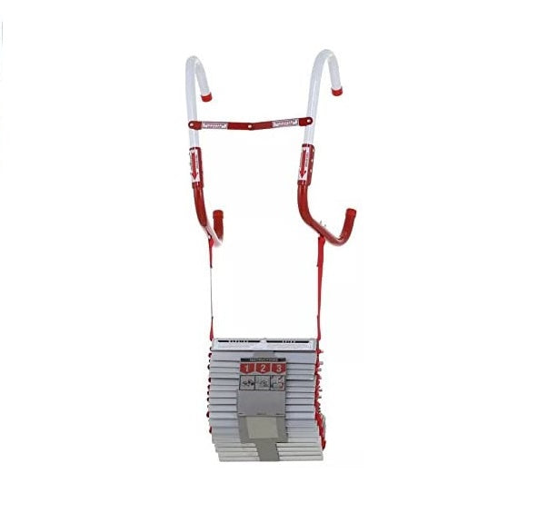 Portable Fire Ladder 2 Story Emergency 15 Foot