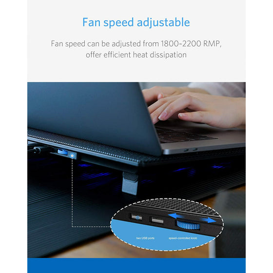 Laptop Cooling Pad Notebooks Up to 15.6 Inch