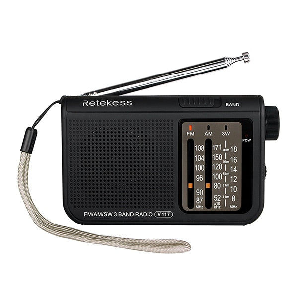 FM/AM Radio Operated by 2 AA Batteries (Power Outage)