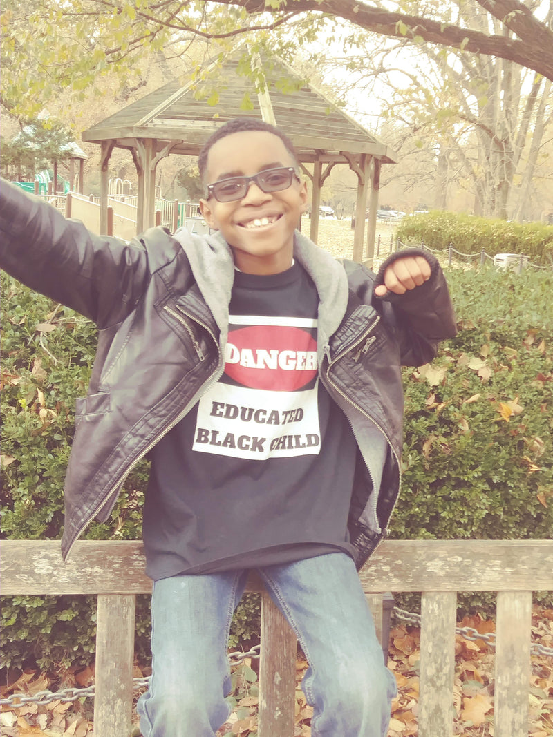 Danger! Educated Black Child Sweatshirt - Black Empowerment Apparel, Black Power Apparel, Black Culture Apparel, Black History Apparel, ServeNSlayTees,