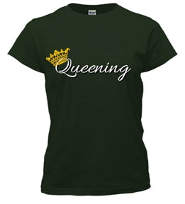 Queening Relaxed Fit Tee - Black Empowerment Apparel, Black Power Apparel, Black Culture Apparel, Black History Apparel, ServeNSlayTees,