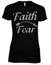 Faith Over Fear Women's Fitted Tee - Black Empowerment Apparel, Black Power Apparel, Black Culture Apparel, Black History Apparel, ServeNSlayTees,