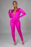 Satin Power Bodysuit Set
