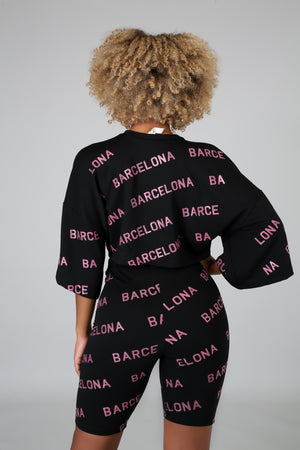 Barcelona Short Set - Black Empowerment Apparel, Black Power Apparel, Black Culture Apparel, Black History Apparel, ServeNSlayTees,