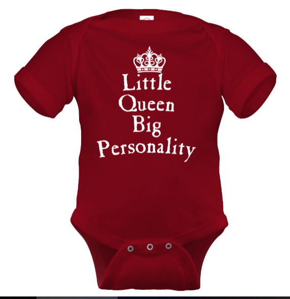 Little Queen Onesie - Black Empowerment Apparel, Black Power Apparel, Black Culture Apparel, Black History Apparel, ServeNSlayTees,
