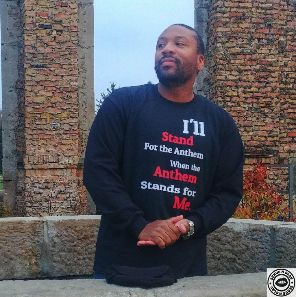 We Stand Sweatshirt - Black Empowerment Apparel, Black Power Apparel, Black Culture Apparel, Black History Apparel, ServeNSlayTees,
