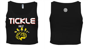 Tickle My Cerebellum Crop Top Tank - Black Empowerment Apparel, Black Power Apparel, Black Culture Apparel, Black History Apparel, ServeNSlayTees,