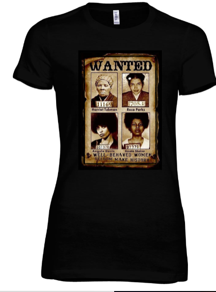 Women Making History Fitted Tee - Black Empowerment Apparel, Black Power Apparel, Black Culture Apparel, Black History Apparel, ServeNSlayTees,