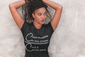 Claire and Cardi Fitted Tee - Black Empowerment Apparel, Black Power Apparel, Black Culture Apparel, Black History Apparel, ServeNSlayTees,