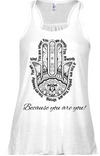 Hamsa Racerback Tank - Black Empowerment Apparel, Black Power Apparel, Black Culture Apparel, Black History Apparel, ServeNSlayTees,