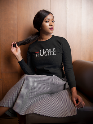 Humble and Hustle Sweatshirt - Black Empowerment Apparel, Black Power Apparel, Black Culture Apparel, Black History Apparel, ServeNSlayTees,