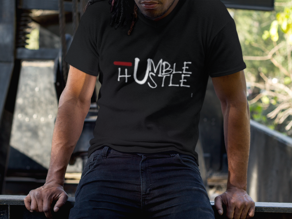 Humble and Hustle Tee - Black Empowerment Apparel, Black Power Apparel, Black Culture Apparel, Black History Apparel, ServeNSlayTees,
