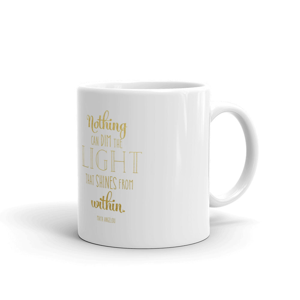 Let Your Light Shine Coffee Mug - Black Empowerment Apparel, Black Power Apparel, Black Culture Apparel, Black History Apparel, ServeNSlayTees,