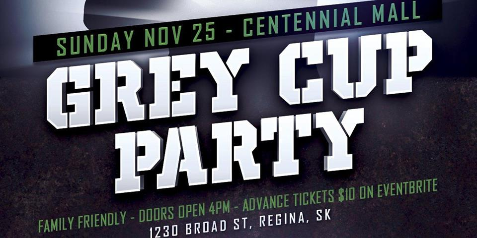 2018 Grey Cup Watch Party hosted by Tall Grass Apparel, Piffles Podcast, and Kenton de Jong Travel