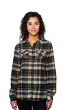 Ladies Long Sleeve Flannel Plaid