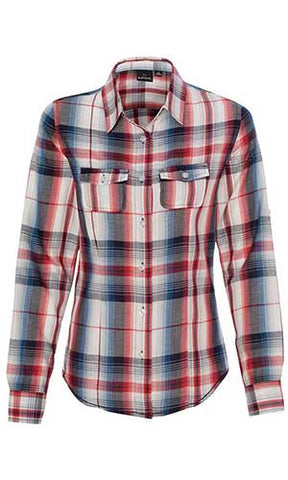 Ladies Long Sleeve Plaid - Tall Grass Apparel
