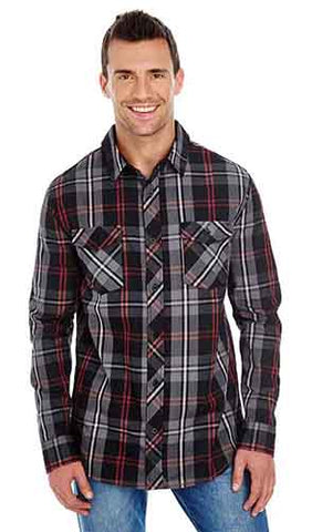 Men's Long Sleeve Plaid - Tall Grass Apparel