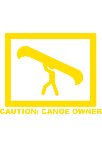 Caution Canoe Owner - Decal - Tall Grass Apparel