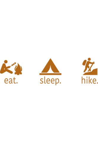 Eat Sleep Hike - Decal - Tall Grass Apparel