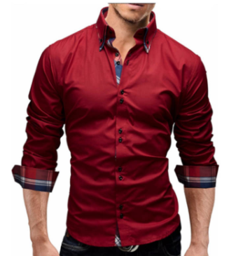 Mens Slim Fit Dress Shirt
