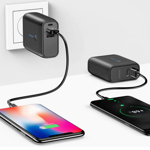 Worlds Best 2-in-1 Wall Charger + 8000mAh Dual USB Power Bank For iPhone  Samsung 70f00116fc